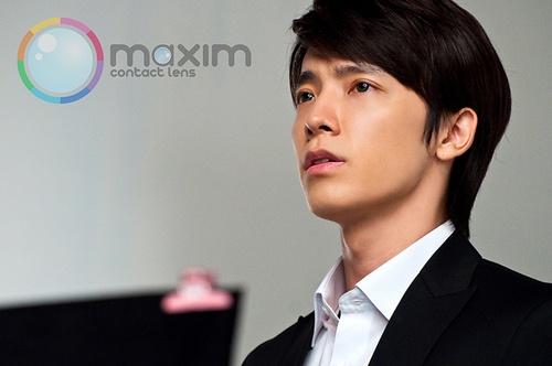 Donghae in Maxim Contact Lens Behind the Scenes