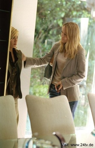 Elisha Cuthbert & Sarah Wynter as Kim Bauer & Kate Warner
