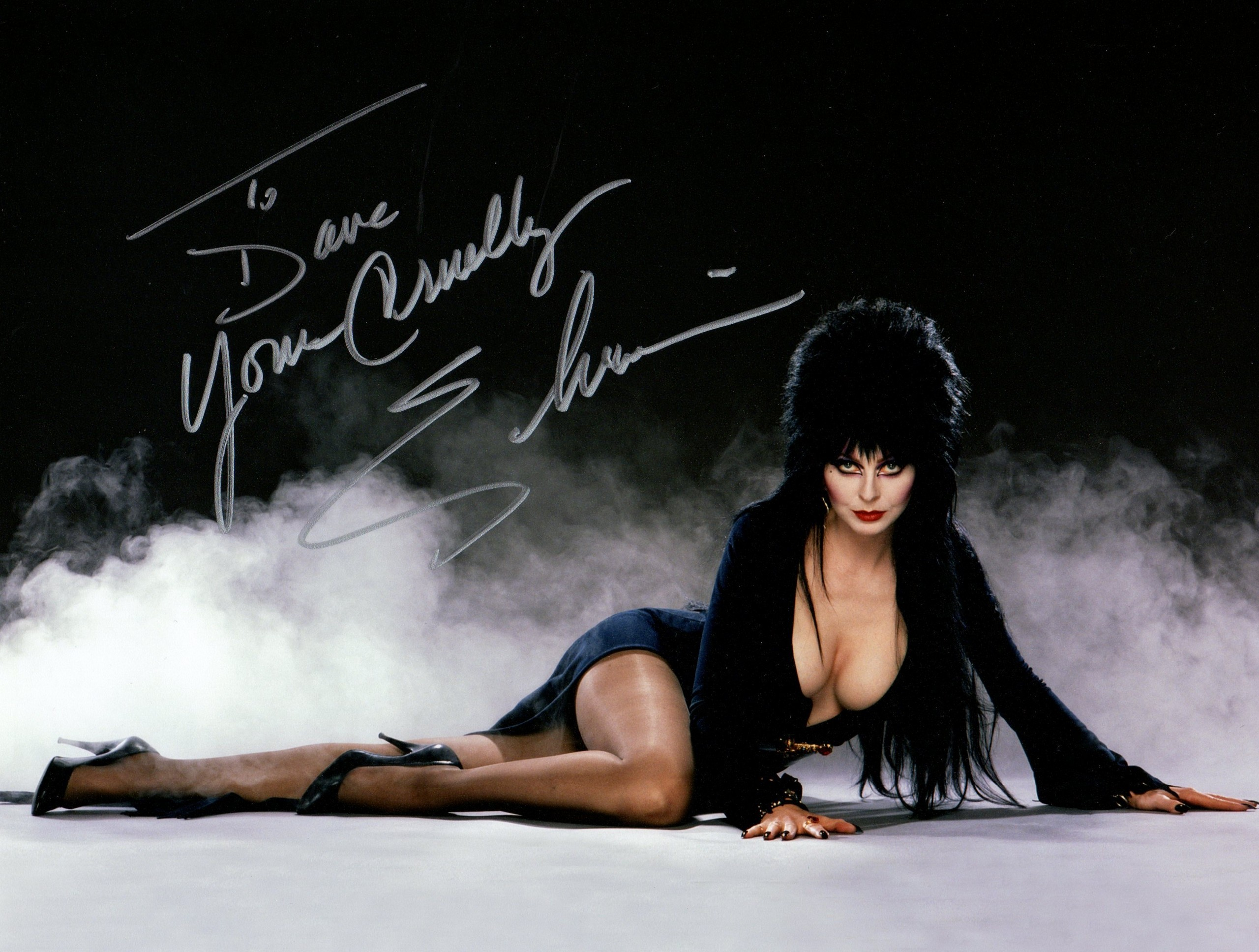 Elvira boob popping out