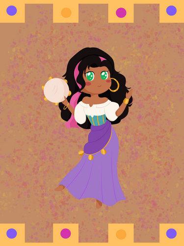 Esmeralda chibi
