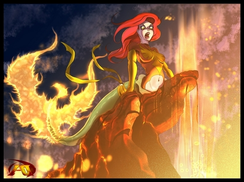 Disney wallpaper with a fire and anime called Evil Ariel