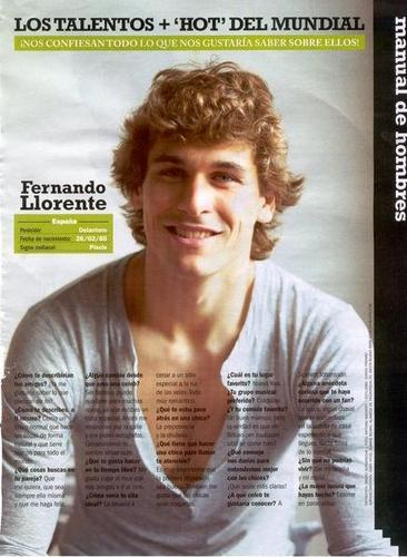 "Fernando Llorente wallpaper with a portrait called Fernando Llorente ""DOM"" Magazine (11/10/09)"