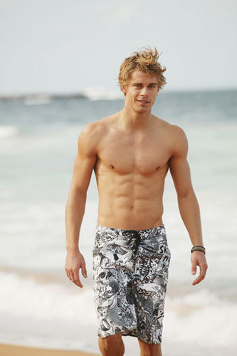 The Hunger Games wallpaper possibly with swimming trunks called Finnick Odair
