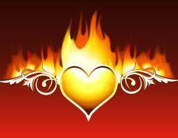 ngọn lửa, chữa cháy tim, trái tim
