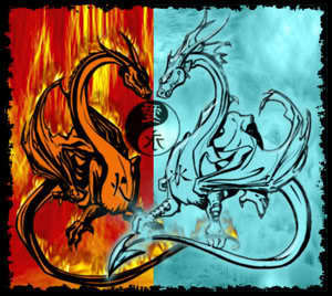 feu and Ice dragons
