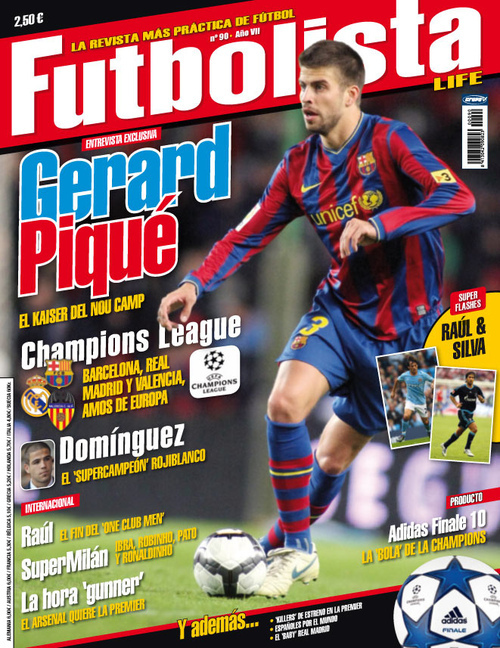 Gerard Piqué on Futbolista