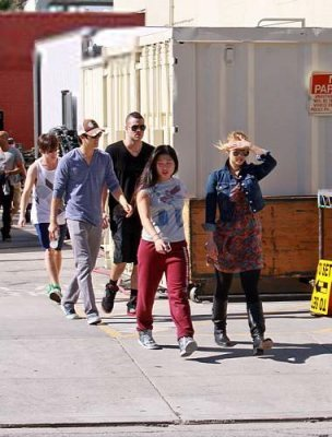 Glee - Set photos 4th November