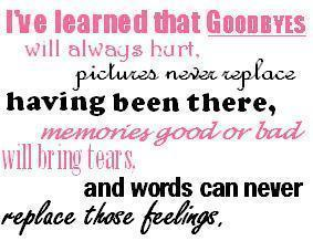 saran wallpaper entitled Goodbyes