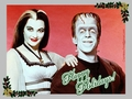 Happy Holidays - Lily & Herman - the-munsters wallpaper