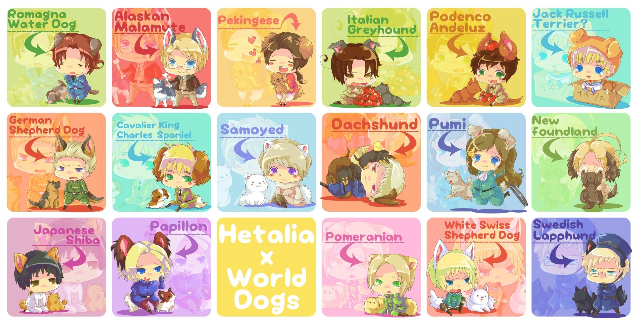 Hetalia Hetalia - World Dogs
