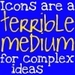 Icons and Bumperstickers - debate icon