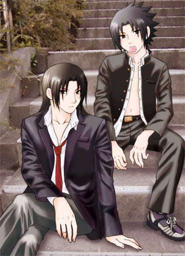 Itachi and Sasuke-Goth & Sexy-I pag-ibig this picture!