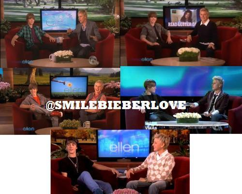 Justin has been on Ellen for 5 times now!