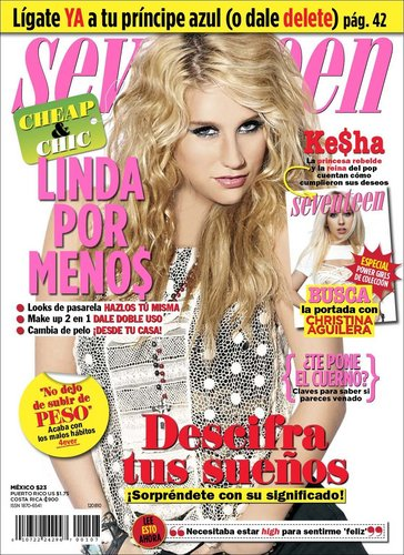 Ke$ha on seventeen magazine litrato shoot