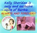 Kelly is only voice of Barbie