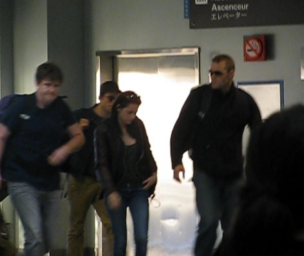 Kristen and Rob at the airport leaving New Orleans