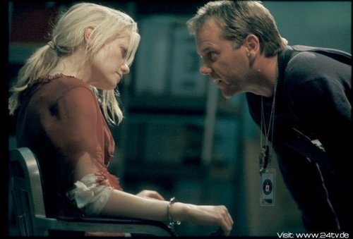 24 wallpaper entitled Laura Harris & Kiefer as Marie Warner & Jack Bauer
