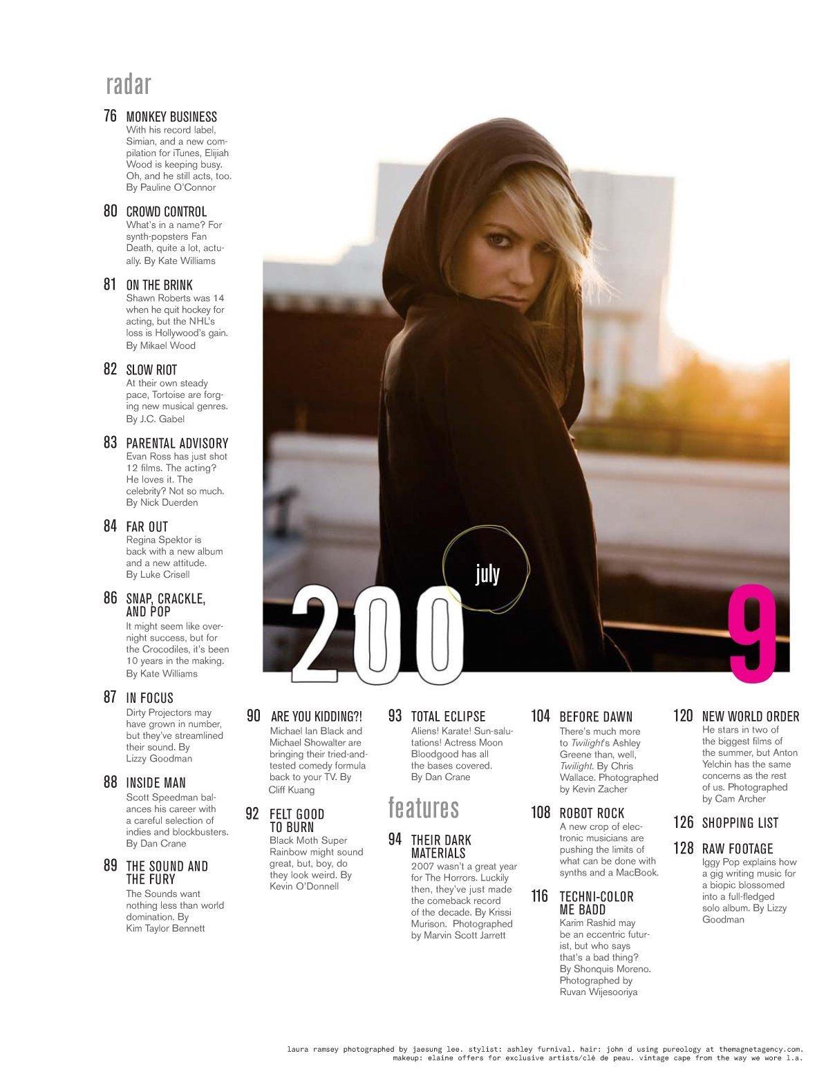 Laura in Nylon Guys Magazine - July 2009
