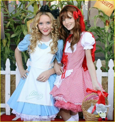 bella thorne fondo de pantalla possibly containing a frock, a sundress, and a dress called Little Red Riding Bella& Her Friend<3