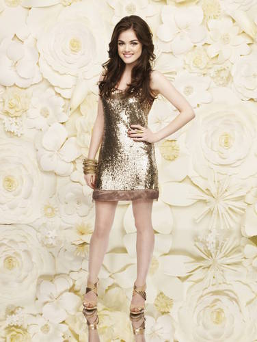 Lucy Hale wallpaper probably with a bustier and a chemise titled Lucy Hale New Pretty Little Liars Photoshoot