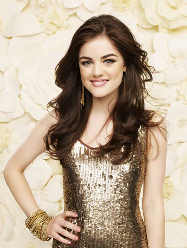 Pretty Little Liars TV دکھائیں پیپر وال possibly containing a کاک, کاکٹیل dress entitled Lucy Hale New Pretty Little Liars Photoshoot