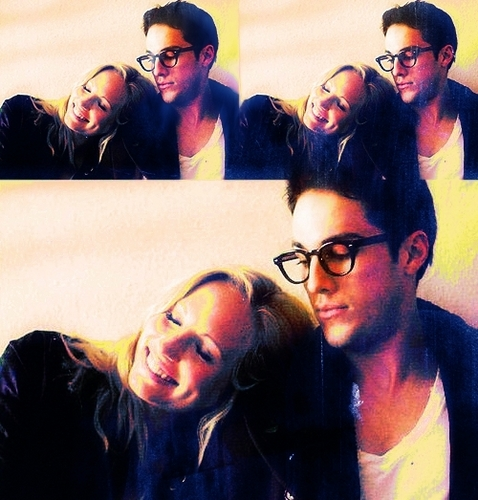 Tyler and Caroline wallpaper probably with a portrait entitled Michael / Candice