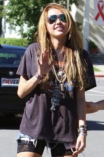 Miley out in Toluca Lake (November 2, 2010).