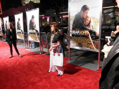 "On The Red Carpet At The ""Dear John"" Premeire"