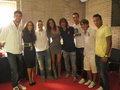 Piqué, Puyol, Bojan Krkic, Sergio Busquets and Malena Costa