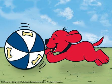 कुत्ते का बच्चा, पिल्ला Clifford Playing With a Ball