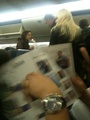 Rob and Kristen on board airplanes