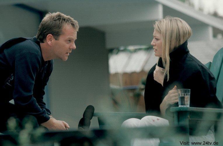 Sarah Wynter & Kiefer as Kate Warner & Jack Bauer