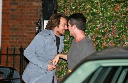 Simon Cowell and Jonathan Ross Visit George Michael