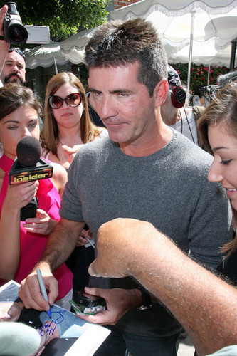 Simon Cowell and Pamela Back at Ivy