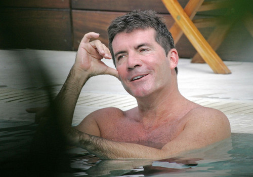 Simon Cowell and Ryan Seacrest Poolside