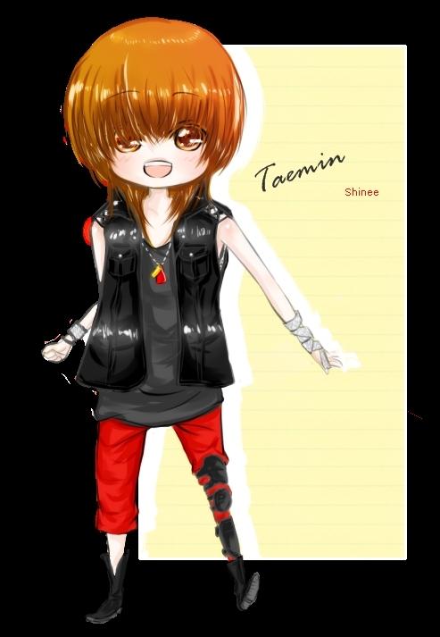 fanarts shinee hello y lucifer Taemin-Fanart-shinee-16725119-493-713