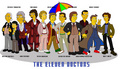 The 11 Doctors Simpsons Style - doctor-who fan art