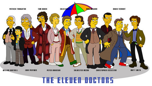 The 11 Doctors Simpsons Style