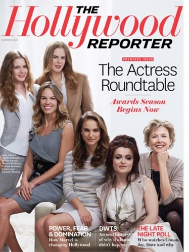 atrizes wallpaper possibly with a newspaper, a portrait, and animê titled The Hollywood Reporter - The Actress Rountable 2010