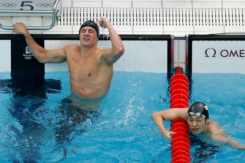 Ryan Lochte Обои containing a water, a breaststroker, and a купальщик, купальщица entitled The Lochtenator