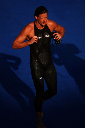 Ryan Lochte wallpaper probably with a leotard, tights, and skin titled The Lochtenator