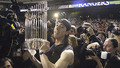 Tim holding the world series trophy - san-francisco-giants photo