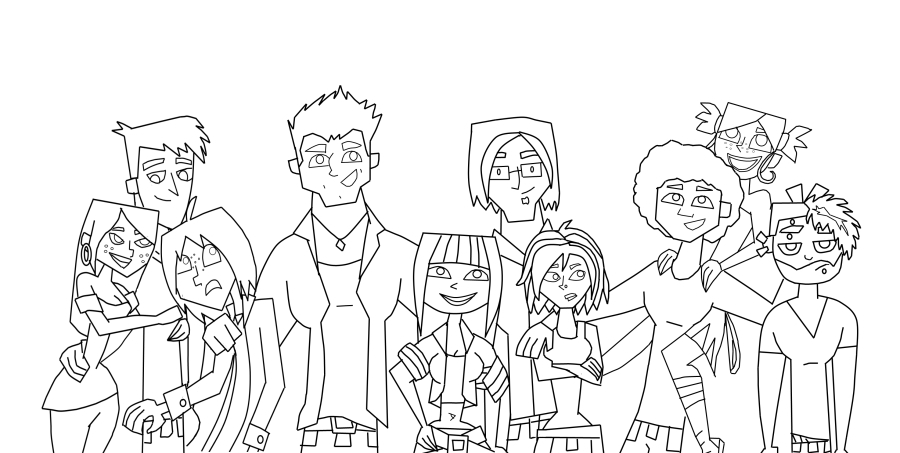 Coloring pages total drama island best ideas for for Total drama action coloring pages