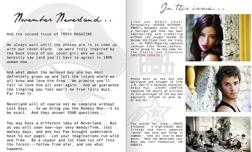 Christian Serratos achtergrond called Troix Magazine - Christian Serratos
