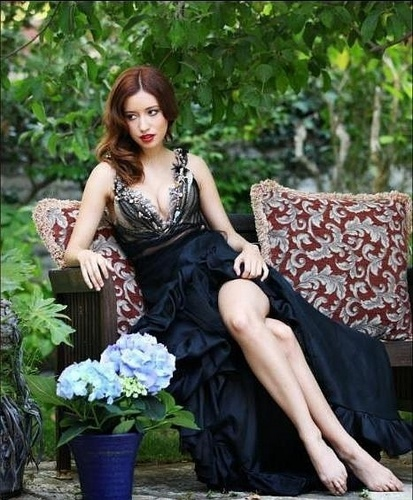 Christian Serratos achtergrond probably with a bouquet and a bridesmaid titled Troix Magazine - Christian Serratos