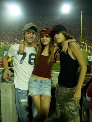Bella Thorne Hintergrund probably with a playsuit, hot pants, hot-pants, and a leisure wear called USC FootBall Season!!!!!!! ((((((: