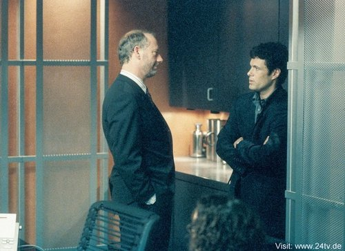 Xander Berkeley & Carlos Bernard as George Mason & Tony Almeida