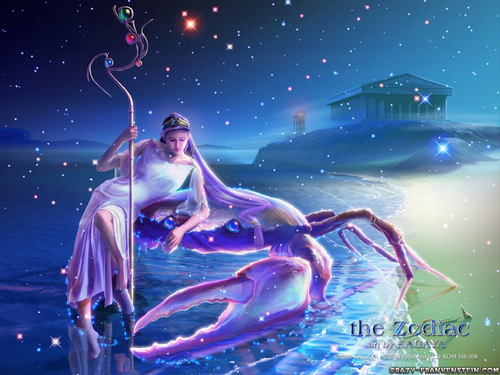 Fantasi kertas dinding titled Zodiac sign cancer