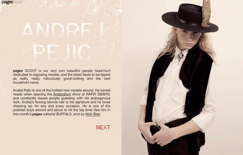 andrej pejic wallpaper containing a fedora and a campaign hat called andrej