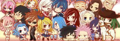 Fairy Tail wallpaper containing anime called chibi fairy tail
